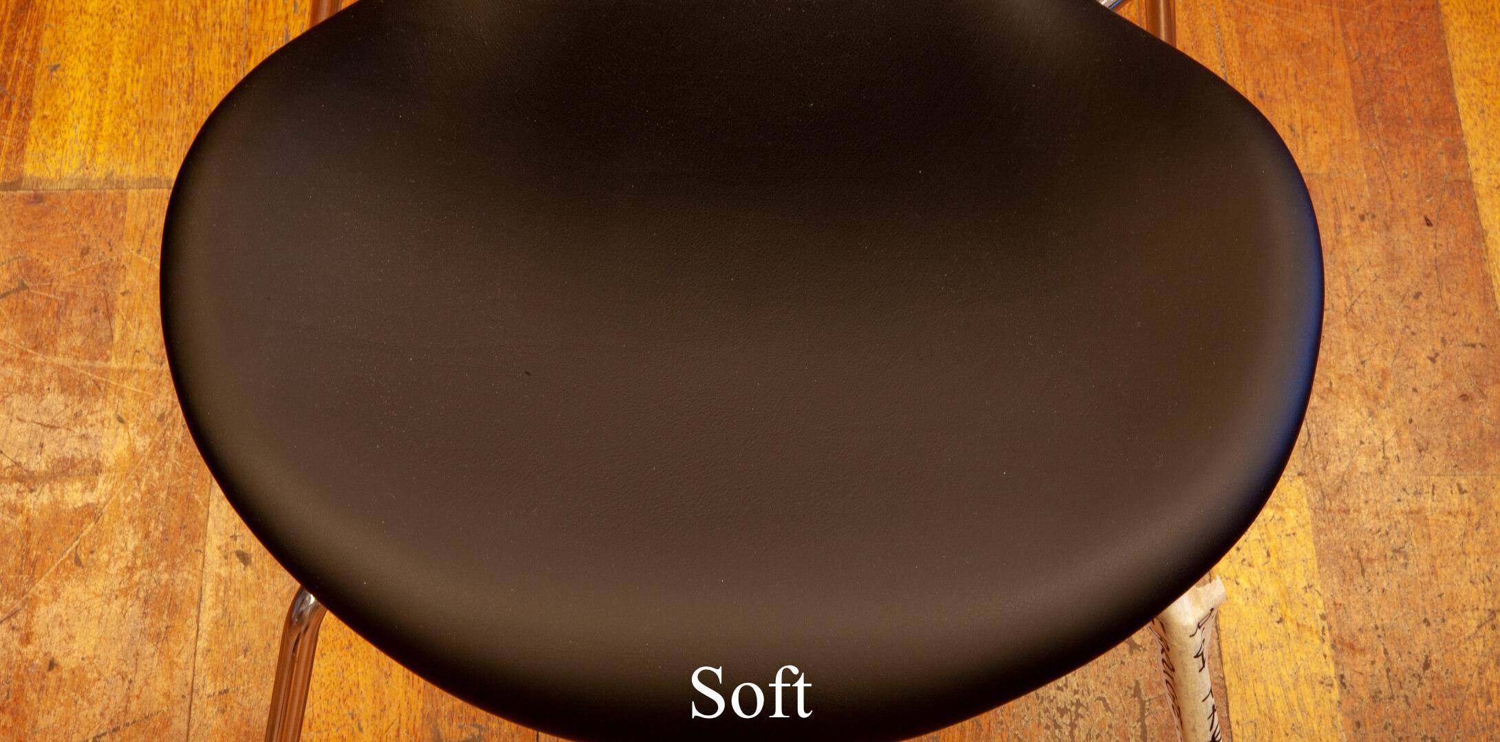 sort overflade stol